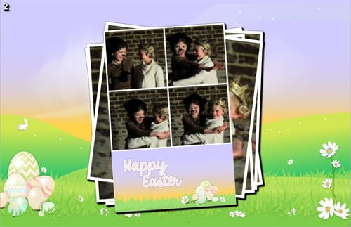 Easter photo booth theme and layouts