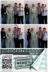Tron guy in Nerderizer 5000 photo booth