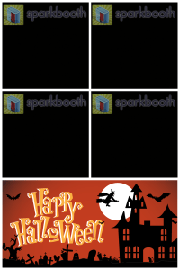 Halloween template for 2 x 2 Top, 4 x 6 Portrait