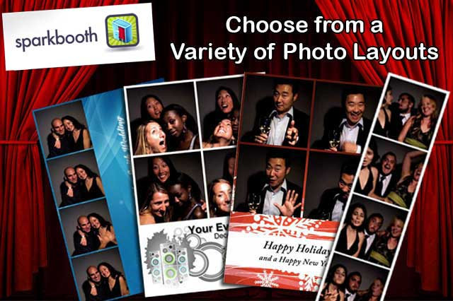Sparkbooth photo layout examples